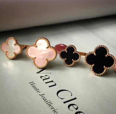 Кольца 2 Flowers в жёлтом и розовом золоте