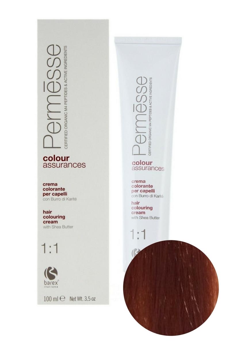 Крем-краска для волос 7.43 Блондин медно-золотистый Permesse, Barex