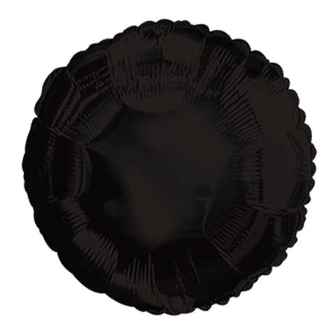 Шар-круг Черный, 45 см