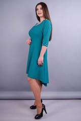 Лейла. Жіноча стильна сукня великих розмірів. Бірюза.