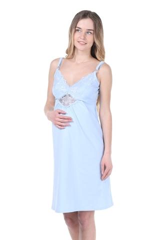 Ночная сорочка для беременных и кормящих 09903 голубой