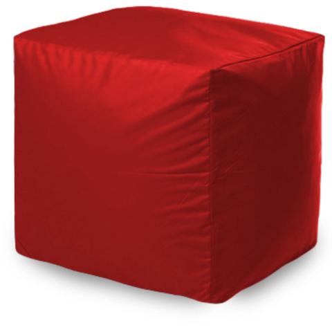 Пуффбери Внешний чехол Пуфик квадратный  40x40x40, Оксфорд Красный