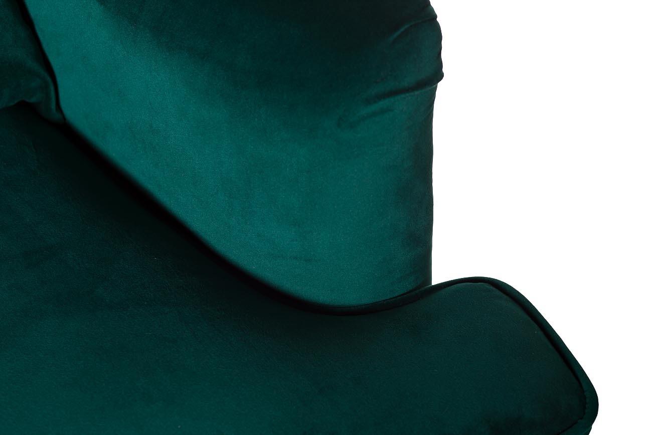 Кресло бархатное зеленое (с подушкой) (24YJ-7004-07342/1) Garda Decor