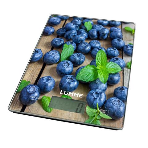 Весы кухонные сенсор LUMME LU-1340 черничная россыпь