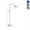 Душевая порционная система для бассейна SOLESTOP 745402RP240 - фото №2