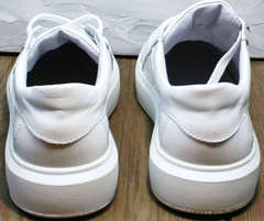 Женские кеды кроссовки кожа Maria Sonet 274k All White.