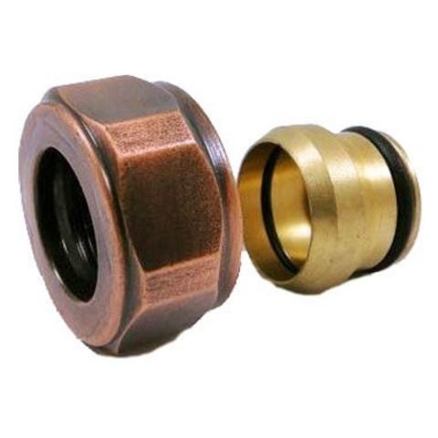 Резьбовое соединение для медных труб античная медь GW 22x1.5 x 15MM