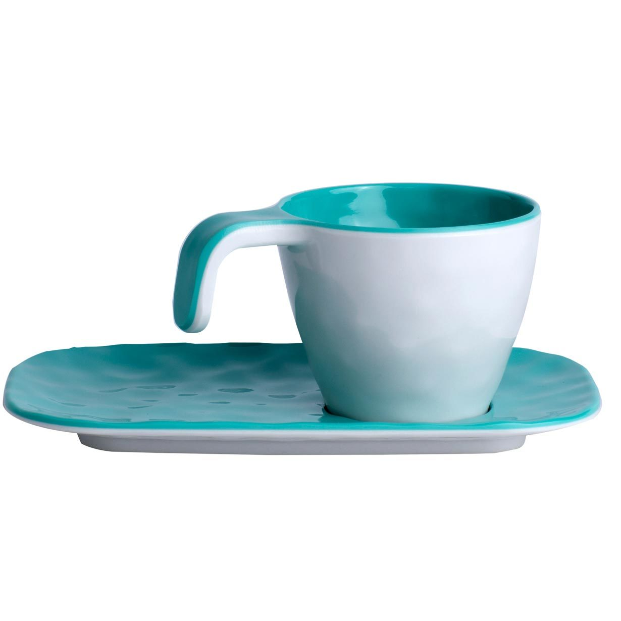 Melamine Coffee Set, Summer collection, colour Aqua