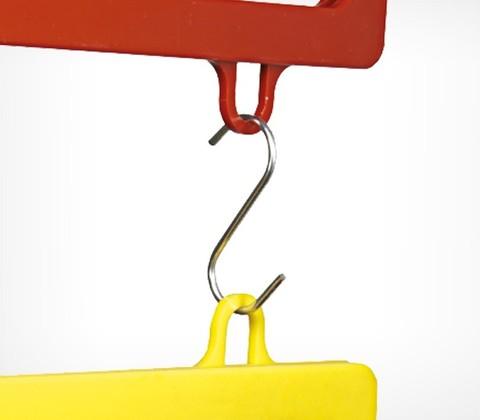 Маленький металлический S-образный крючок длиной 26 мм. S-HOOK-26