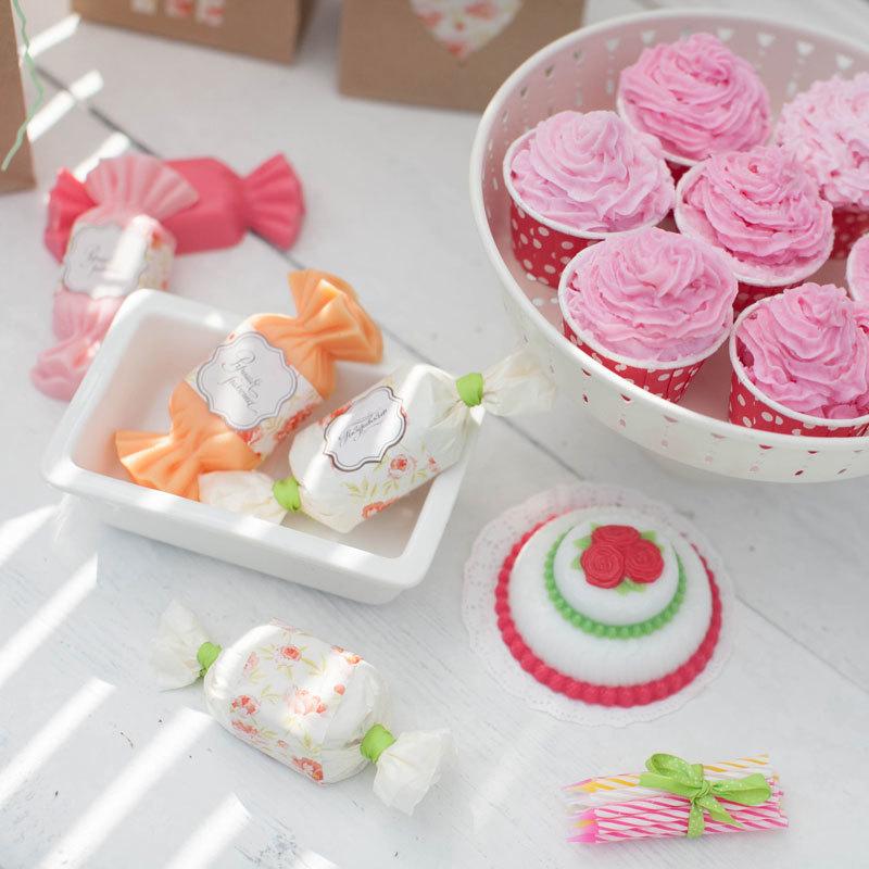 Мыло ручной работы в форме сладостей