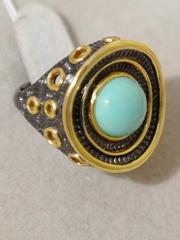 Бавро-бирюза (кольцо из серебра)