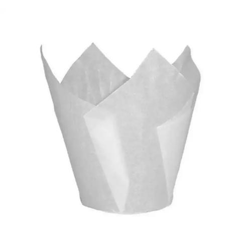 Форма бумажная Тюльпан Белая 50×80мм (20шт)