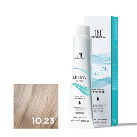 Крем-краска для волос TNL Million Gloss оттенок 10.23 Платиновый блонд перламутр. золотистый 100 мл