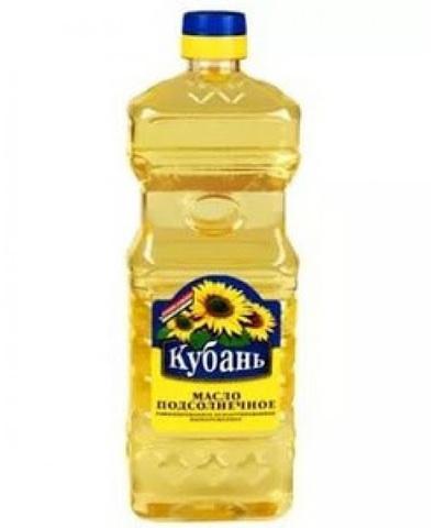 Масло подсолнечное Кубань 0.35 л