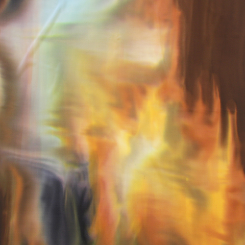 Шелковый платок батик Ветер С-86