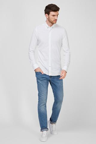 Мужская белая рубашка SLIM GEO FLORAL Tommy Hilfiger
