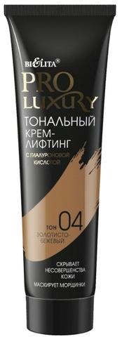 Белита PROLUXURY Крем-лифтинг тональный с гиалур.кислотой т.4 золотисто-бежевый 30мл