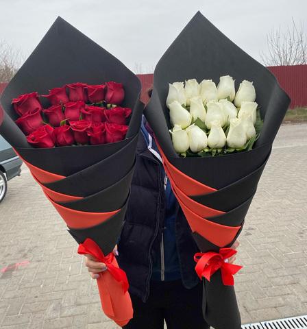 Оригами из 15 импортных роз