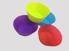 Силиконовые Формы для выпечки капкейков/маффинов/кексов, 6х9 см H4, 12 шт