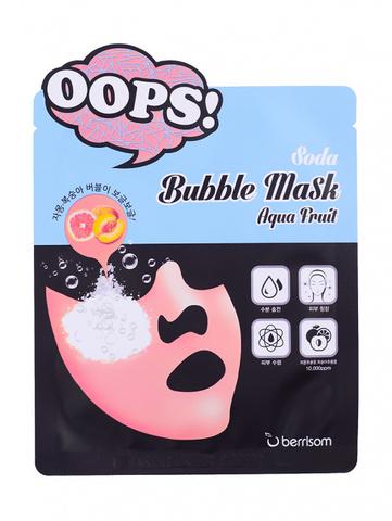 Berrisom Маска пузырьковая для увлажнения кожи Soda Bubble Mask Aqua Fruit, 1 шт