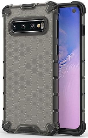Чехол с темным корпусом на Samsung Galaxy S10 от Caseport, серия Honey