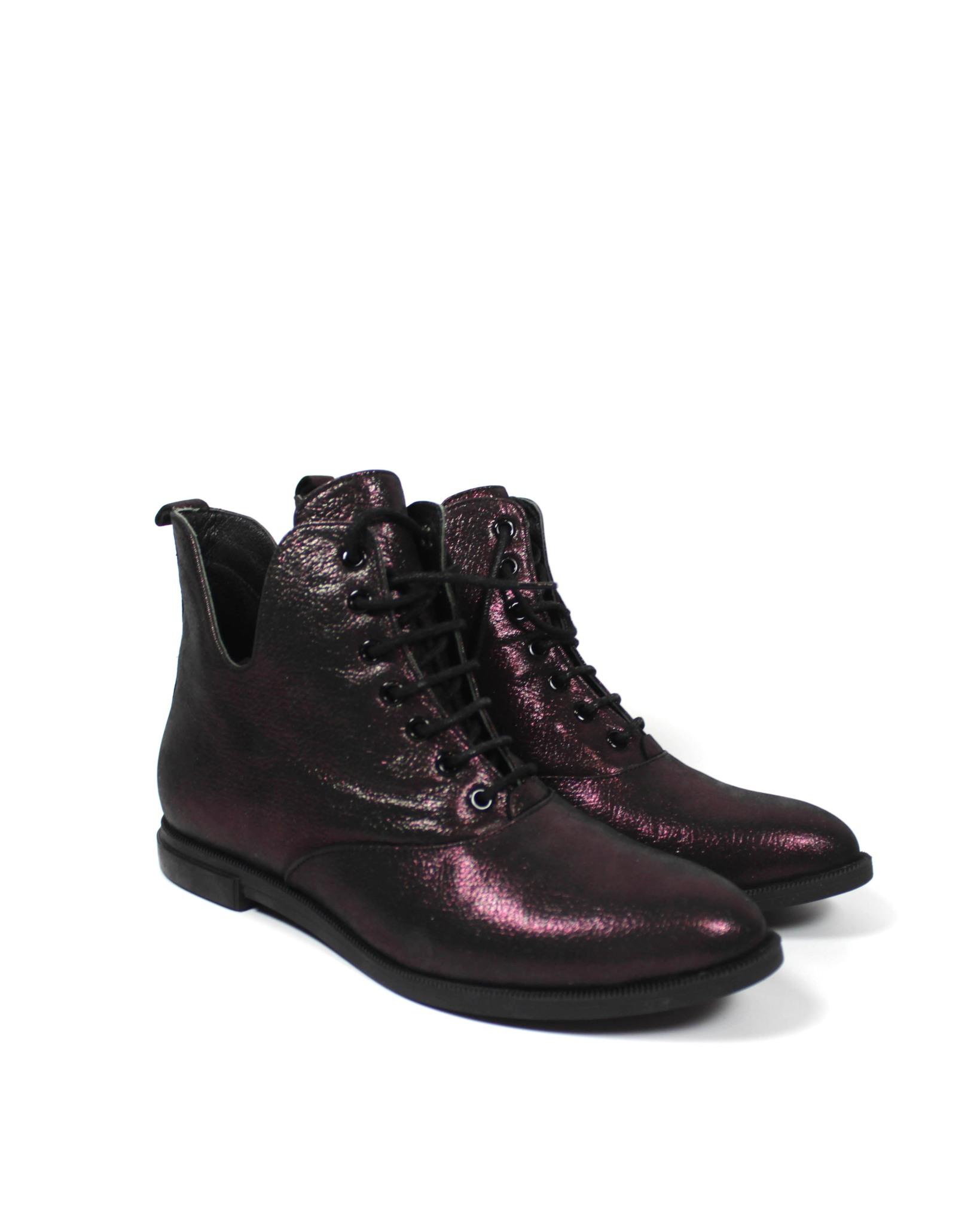 бордовые ботинки SM