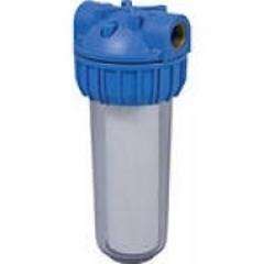 """Водоочиститель PU 902С1-B12-PR-BN (прозр.колб 2-х комп, вход 1/2"""", ключ, кроншт, картридж), Райфил"""