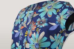 Блузка Bikkar складка цветы к/р