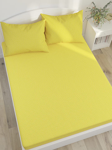 Простынь на резинке  -Солнышко- натяжная 140х200х26 см 2-спальная