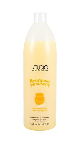 Шампунь для всех типов волос Мед и ромашка,Kapous Aromatic,1000 мл