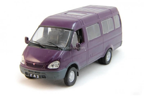 GAZ-3221 Gazelle violet 1:43 DeAgostini Auto Legends USSR #194