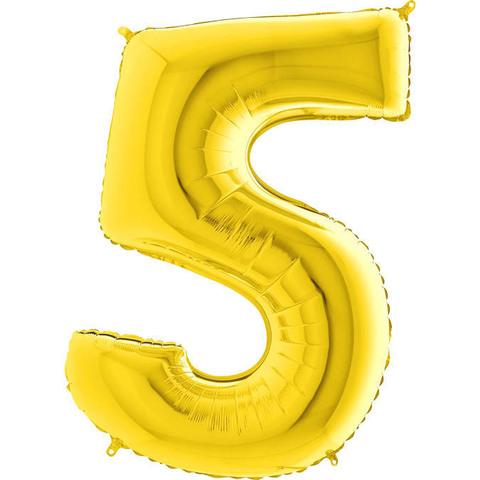 Цифра 5 (Золотая)