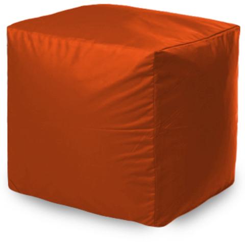 Пуффбери Внешний чехол Пуфик квадратный  40x40x40, Оксфорд Оранжевый