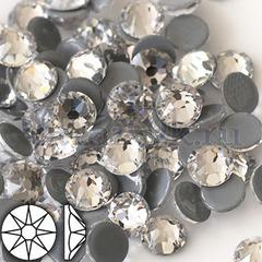 Стразы горячей фиксации клеевые термостразы  Сириус 8x8 Crystal Кристалл прозрачные на StrazOK.ru