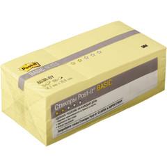Стикеры Post-it 38x51 мм пастельные желтые (12 блоков по 100 листов)