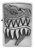 Зажигалка Zippo 200 Fire Breathing Dragon, латунь/сталь серебристая с покрытием Brushed Chrome