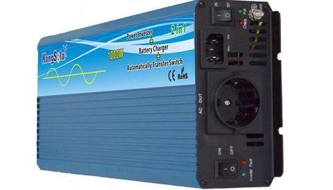 Преобразователь тока (инвертор) KongSolar KPC12/1000 (ИБП, чистый синус)