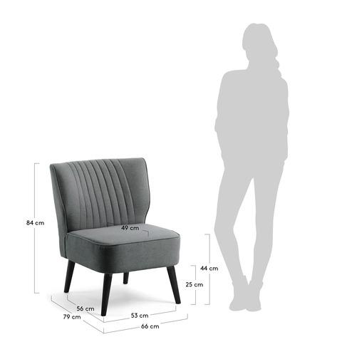Кресло Atticus темно-серое