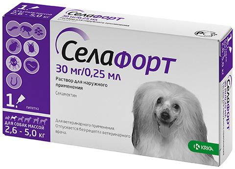 Селафорт 12% 30 мг. для собак 2,6-5 кг.  0,25 мл.