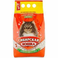 Наполнитель для кошачьего туалета, Сибирская Кошка Экстра для длинношерстных (впитывающий)