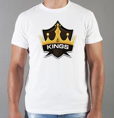 Футболка с принтом НХЛ Лос-Анджелес Кингз (NHL Los Angeles Kings) белая 004