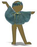 Вязаное пончо - Демонстрационный образец. Одежда для кукол, пупсов и мягких игрушек.