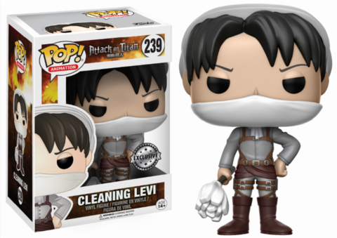 Фигурка Funko POP! Vinyl: Attack on Titan: Cleaning Levi (Exc) 14291