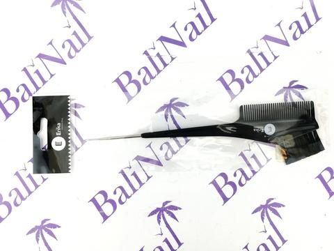 Кисть для окрашивания волос, Длина 21 см., Ширина 3,5 см., с расчёской и крючком