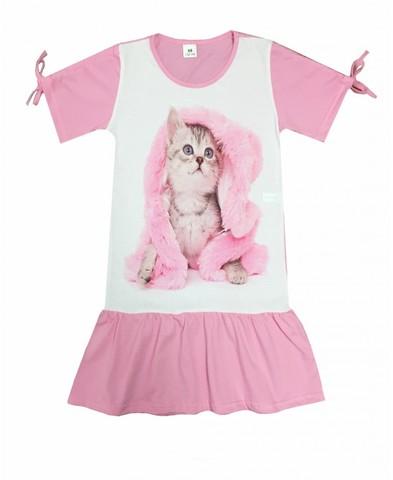 Платье с котёнком детское трикотажное