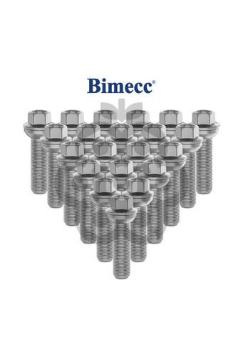 Болт колёсный М15x1.25 длина=45мм ключ=17мм сфера с шайбой цинк BIMECC PS17Q45-MW-ZN