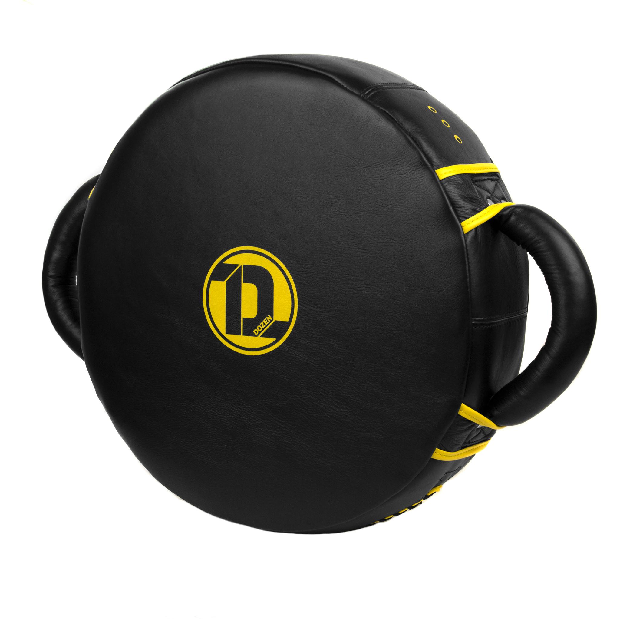Макивара круглая Dozen Monochrome черно-желтая главный вид