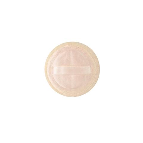 Спонж для пудры и тональной основы, круглый с атласной лентой