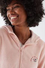 Рожевий теплий халат