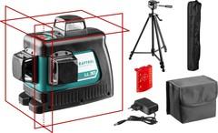 KRAFTOOL LL-3D #3 нивелир лазерный, 3х360° , 20м/70м, IP54, точн. +/-0,2 мм/м, штатив, в сумке